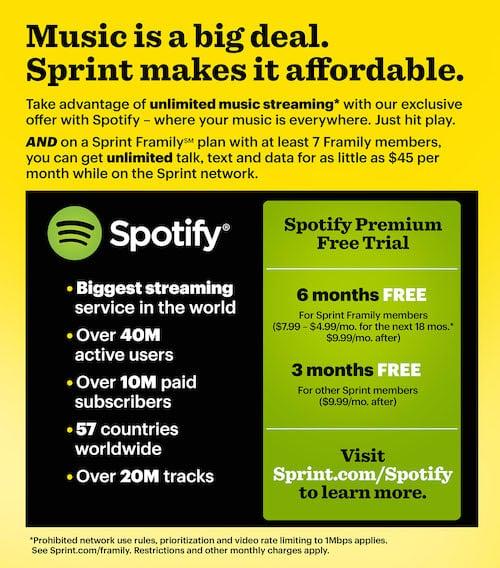 Sprint spotify affiliate partnership